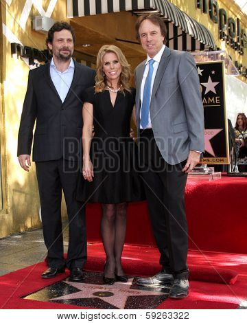 LOS ANGELES - JAN 29:  Jeremy Sisto, Cheryl Hines, Kevin Nealon at the Hollywood Walk of Fame Star Ceremony for Cheryl Hines at Hollywood Boulevard on January 29, 2014 in Los Angeles, CA