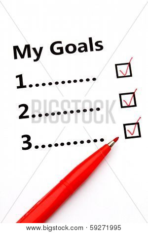 Tickbox of my goal