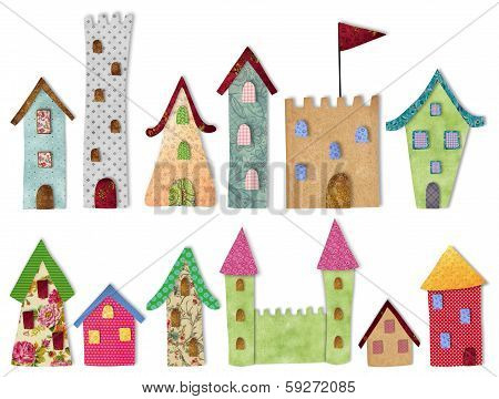Fairytale city buildings