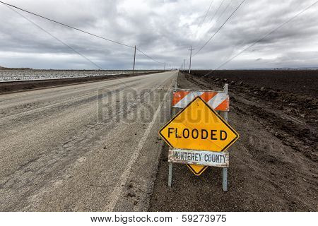 Flooded Roadway Sign