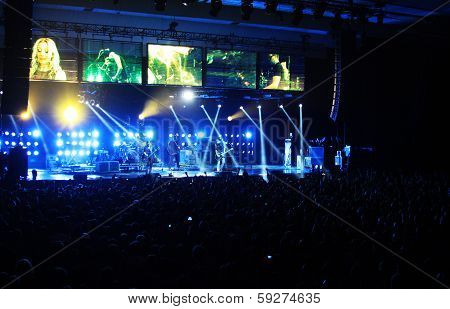 Rock band Placebo and Brian Molko in concert at the Sport Palace on Saturday, September 22, 2012 in