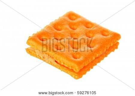 Genuine Generic Cheese and Peanut Butter Crackers. Isolated on white with room for your text. The perfect Cheese Cracker image for all your needs.