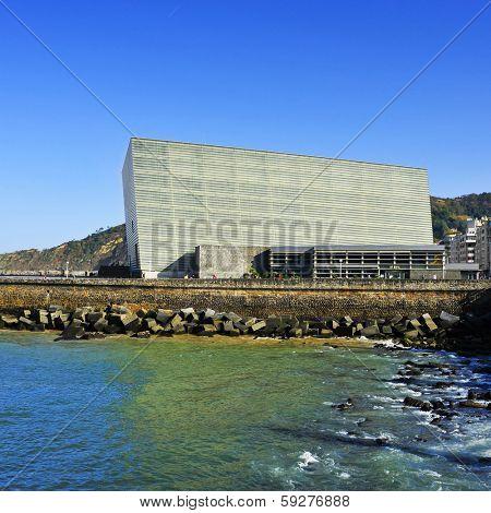 SAN SEBASTIAN, SPAIN - NOVEMBER 15: Kursaal Convention Center and Auditorium on November 15, 2012 in San Sebastian, Spain. Every year the Kursaal houses the San Sebastian International Film Festival