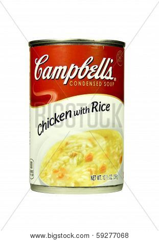 Can Of Campbell's Chicken With Rice Soup
