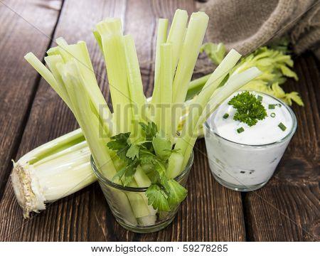 Celery Sticks In A Glass