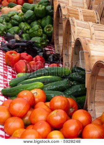 Outdoor Vegetable Market Summer Produce