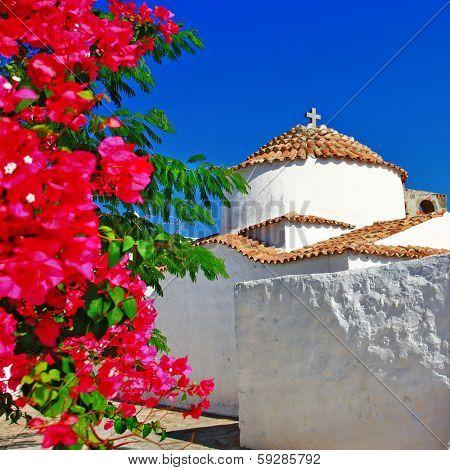 Greece.Patmos island. monastery