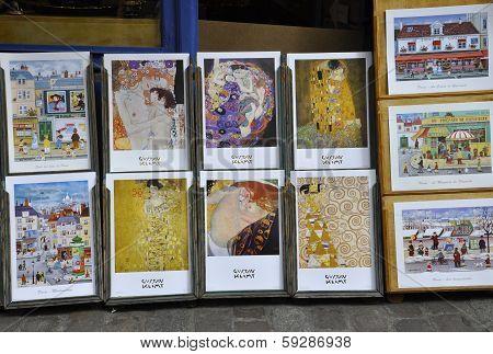 PARIS-AUGUST19:Souvenirs from Montmartre on august 19th in Paris,France