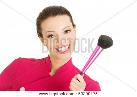 Young make-up artist woman portrait