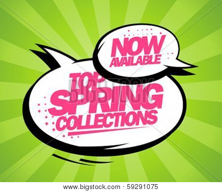 Top spring collections now available, pop-art design with balloons.