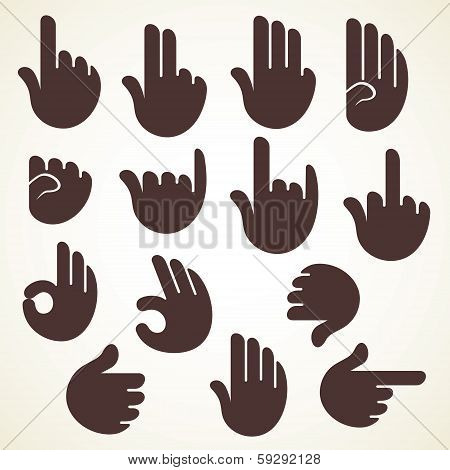 illustration of creative sign or signal show by hand finger stock vector