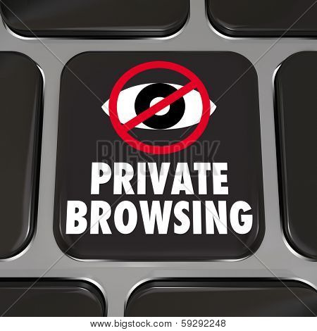 Private Browsing Computer Keyboard Key Internet Privacy