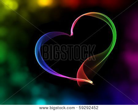 Colorful Heart With