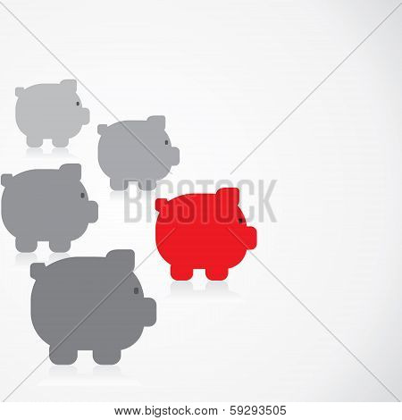 piggy bank race concept
