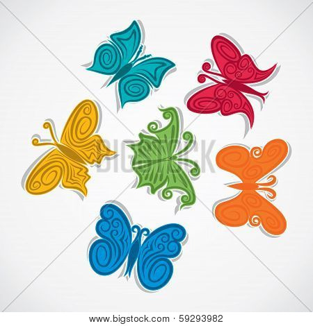 Creative colorful butterfly background design stock vector