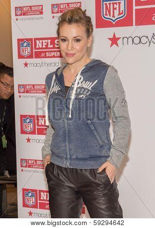 NEW YORK-FEB 1: Actress Alyssa Milano promotes