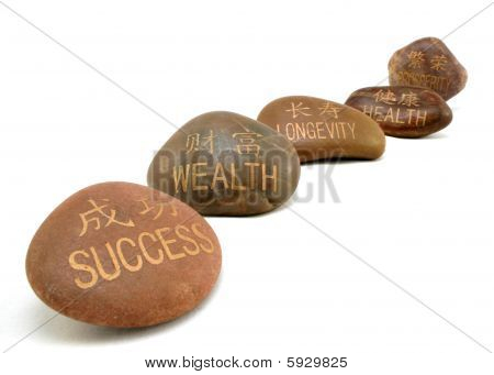 Inspirational stones, Focus on Wealth
