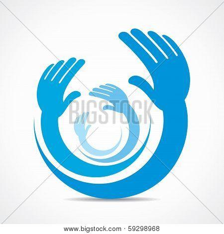 creative hand icon concept