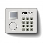 vector motion detector keypad infrared alarm