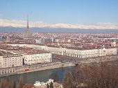 image of turin  - Turin skyline panorama seen from the hills surrounding the city - JPG