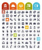 stock photo of clocks  - Business Related Icons Set  - JPG