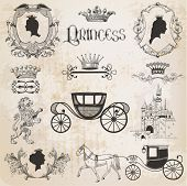 picture of carriage horse  - Vintage Princess Girl Set  - JPG
