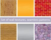 picture of stonewalled  - Set of different wall textures  - JPG