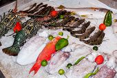 Fresh Seafood In Asian Market