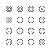 stock photo of sniper  - Crosshairs icons - JPG