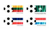 Soccer Ball With Lithuania, Macao, Los Altos And Luxembourg Flag