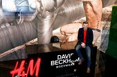 NEW YORK-FEB 1: David Beckham attends the launch of his new Bodywear range at the H&M Super Bowl Eve