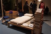 Natural Bed On Display At Olis Festival In Milan, Italy