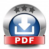 pdf file or document download button or icon