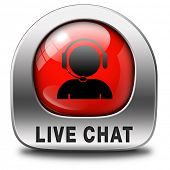 stock photo of chat  - live chat red icon - JPG
