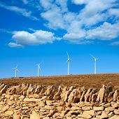 Maestrazgo in Castellon Windmills with traditional rural life at spain