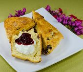 picture of devonshire  - high tea scones with jam and cream - JPG
