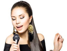 picture of karaoke  - Singing Woman - JPG