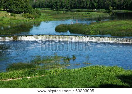 Latvia.  Falls On Ventas River.