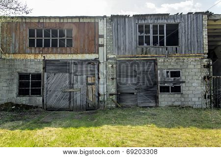 Abandoned And Ruined Garage