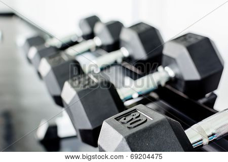 rows of dumbbells
