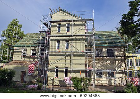 Old House Repair And Thermal Insulation Work Place