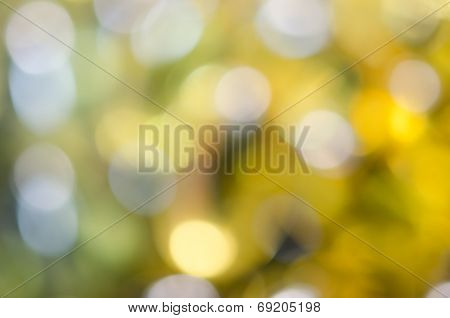 Yellow Blurred Circle And Hilight Background