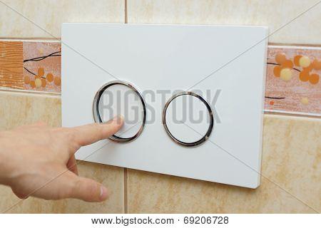 Finger Pushing Button For  Flushing Toilet