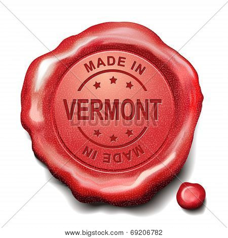 Made In Vermont Red Wax Seal
