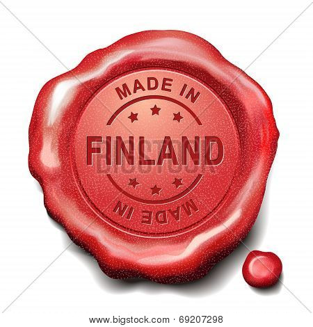 Made In Finland Red Wax Seal