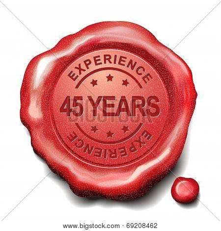 45 Years Red Wax Seal