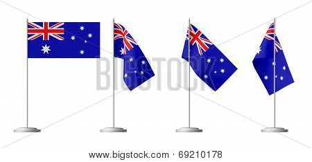 Small Table Flag Of Australia