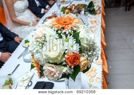 Decoration on wedding table