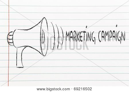 Funny Megaphone Design: Clear Marketing Campaign