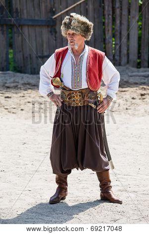 Ukrainian Cossack In National Dress